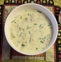 Cream of Wild Mushroom Soup – Without the cream