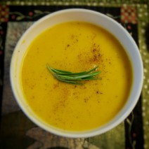 Roasted Butternut Squash Soup with Ginger